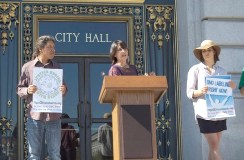 Biosafety Alliance rally at San Francisco City Hall