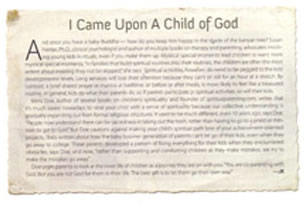 Growing Up with God | I Came Upon a Child of God
